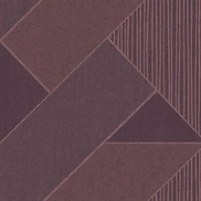 Art Deco Plum Glam Geometric Wallpaper