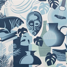 Art Room - Chalkhill Blue colourway wallpaper