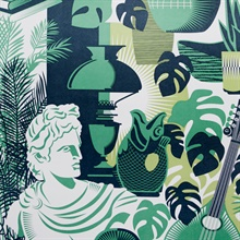 Art Room - Coach Emerald colourway wallpaper