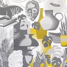Art Room - Mustard colourway wallpaper