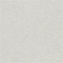 Asa Grey Linen Texture Wallpaper