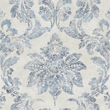 Astor Blue Damask