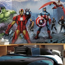 Avengers Assemble XL Wallpaper Mural 10.5' x 6'