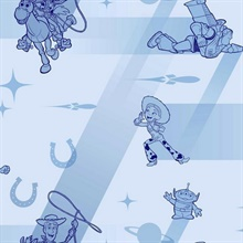 Baby Blue Disney and Pixar Toy Story 4 Retro Wallpaper