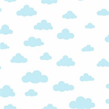 Baby Blue Disney Winnie the Pooh Clouds Wallpaper