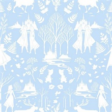 Baby Blue Glitter Disney Frozen 2 Nordic Wallpaper