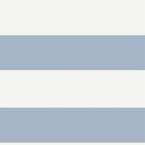 Baby Blue White Nautical Beach 6 5 In Horizontal Stripe Wallpaper