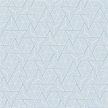 Baby Blue & White Triangle Geometric Shapes Wallpaper