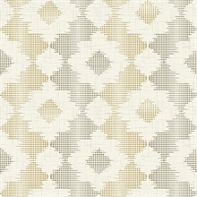 Babylon Mustard Yellow Abstract Floral Wallpaper