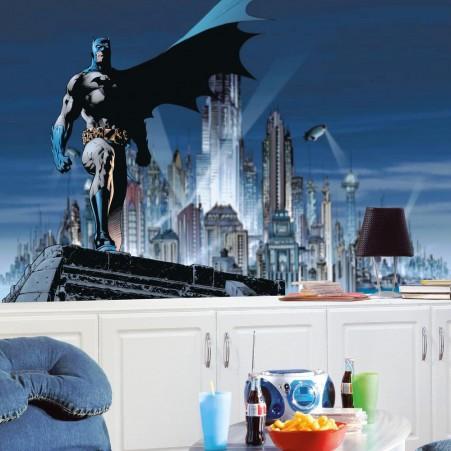 Dc1066m batman xl wallpaper mural 10 5 39 x 6 39 wallpaper for Batman mural wallpaper
