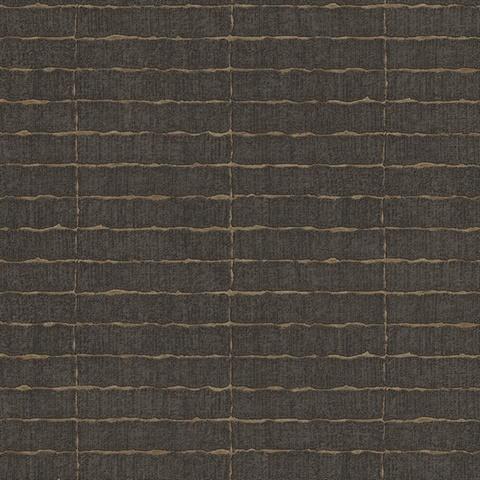 Batna Dark Brown Brick Wallpaper , 376072