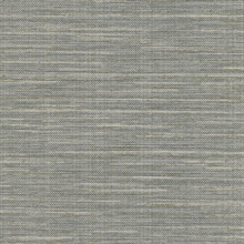 Bay Ridge Grey Faux Grasscloth