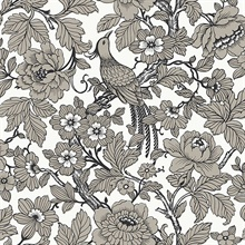 Beaufort Black Flowers & Birds Chinoiserie Wallpaper