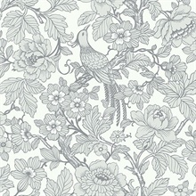 Beaufort Light Grey Flowers & Birds Chinoiserie Wallpaper