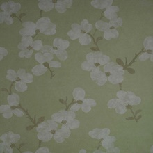 Bebe Light Green Blossom Wallpaper