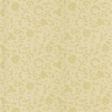 Bed Breakfast Beige Jacobean Stencil Wallpaper