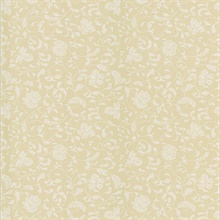 Bed Breakfast Cream Jacobean Stencil Wallpaper