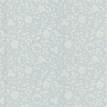 Bed Breakfast Light Grey Jacobean Stencil Wallpaper