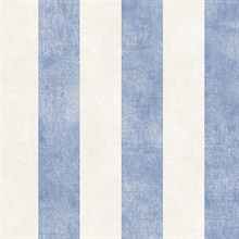Beige and Blue Vertical 2in Stripe Prepasted Wallpaper