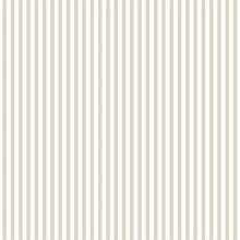 Beige and White Vertical 6mm Stripe Prepasted Wallpaper
