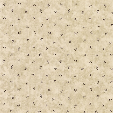 Beige Berry Spot Wallpaper
