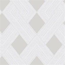 Beige Beveled Edge Geometric Wallpaper