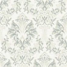 Beige Bold Borcade Damask Wallpaper