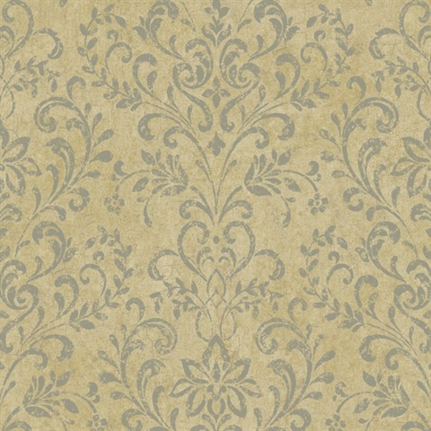 Beige Country Damask