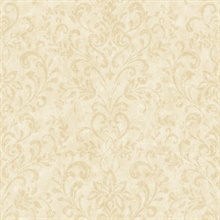 Beige Country Damask Wallpaper