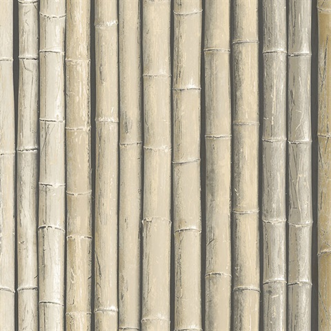 Beige Faux Bamboo