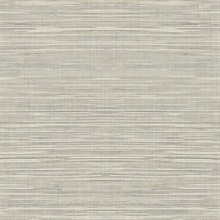 Beige Faux Grasscloth With Horizontal Textile Strings Wallpaper