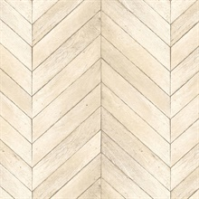 Beige Faux Wood Chevron
