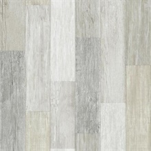Beige Faux Wood Vertical Pallet Board Wallpaper