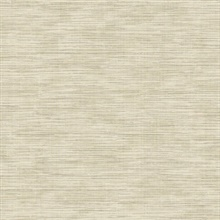 Beige Grass Texture Print with Textile Strings Wallpaper