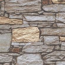 Beige & Grey Stacked Stone