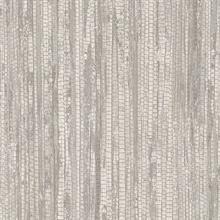 Beige & Grey Vertical Faux Grasscloth