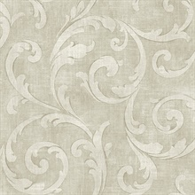 Beige Large Scroll