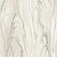 Beige Liquid Marble Wallpaper