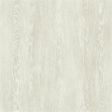 Beige Quarter Sawn Faux Wood Wallpaper