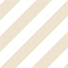 Beige, Sand and Suede Diagonal Stripe Prepasted Wallpaper