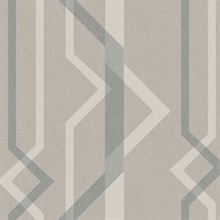 Beige Shape Shifter Geometric Wallpaper