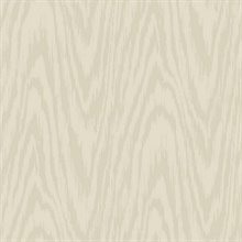 Beige Shimmering Faux Woodgrain Wallpaper