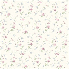Beige Spring Bloom Trail Wallpaper