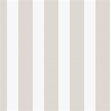 Beige & Taupe 1.25 In Stripe Wallpaper