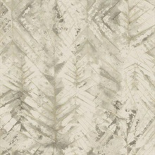 Beige Textural Impremere Leaf Wallpaper
