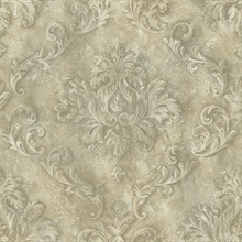 Beige Textured Scroll