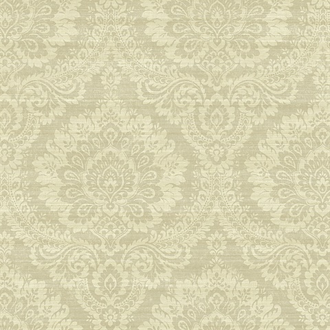 Beige Traditional Damask