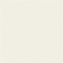 Beige Twisted Tailor Geometric Wallpaper