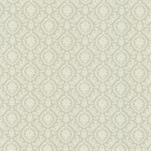Bella Green Damask