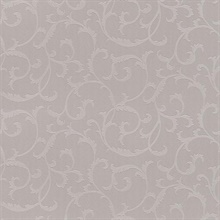 Benedetta Taupe Embossed Scroll Wallpaper